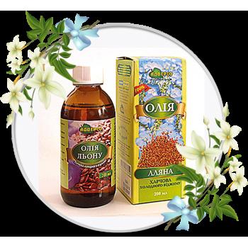 Олія лляна  харчова холодного віджиму