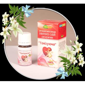 Аромакомпозиція ефірних олій для мужчин «Тонізуюча»